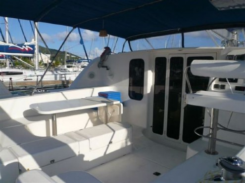 Used Sail Catamaran for Sale 2005 Leopard 47 Deck & Equipment